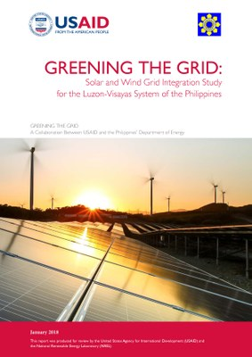 Greening the Grid: Solar and Wind Grid Integration Study for the Luzon-Visayas System of the Philippines