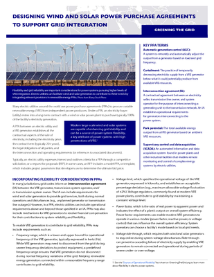 Designing Wind and Solar Power Purchase Agreements to Support Grid Integration