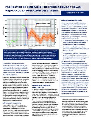 Forecasting Wind and Solar Generation (Spanish)