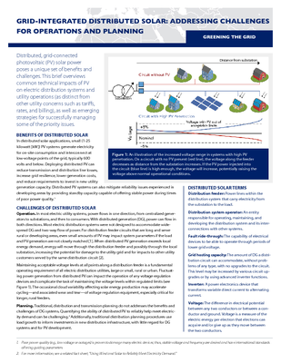 Grid-Integrated Distributed Solar: Addressing Challenges for Operations and Planning