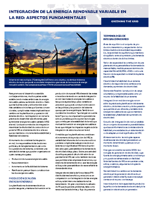 Integrating Variable Renewable Energy Into the Grid: Key Issues (Spanish)