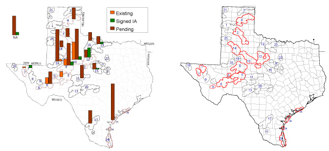two maps of texas crez projects for step 3 guidebook