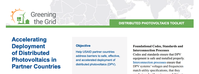 Accelerating Deployment of Distributed Photovoltaics in Partner Countries