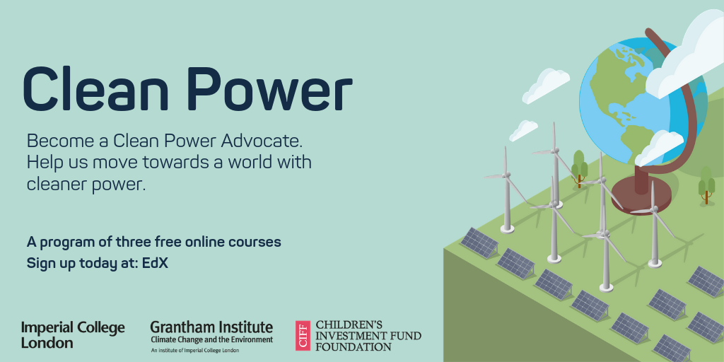 Promotional image for the MOOC Clean Power Program