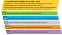 Lao PDR Energy Alternatives Study Goals