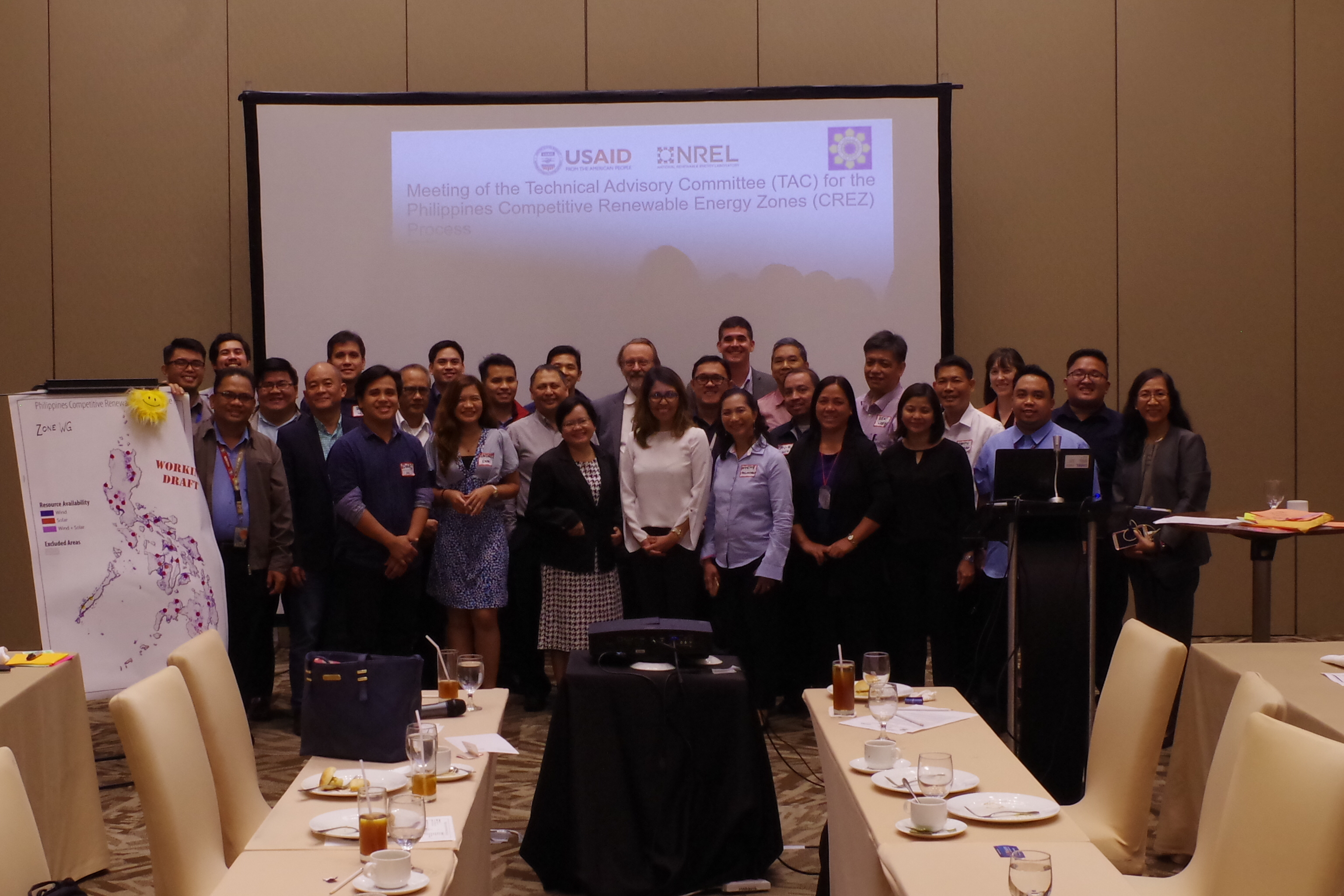 A meeting from the Philippines CREZ TAC Meeting, 2018