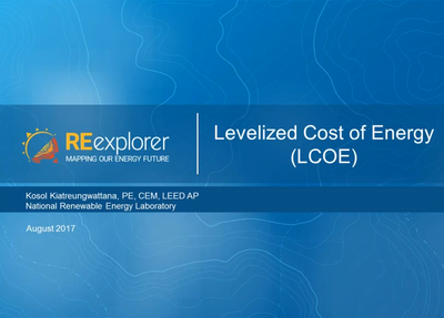 Levelized Cost of Energy (LCOE): An Overview