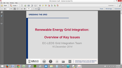 Renewable Energy Grid Integration: Overview of Key Issues