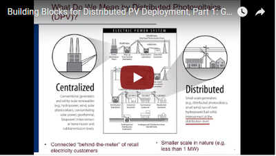 Building Blocks for Distributed PV Deployment, Part 1: Goals, Definitions and Compensation