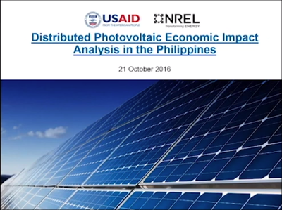Distributed Photovoltaic Economic Impact Analysis in the Philippines