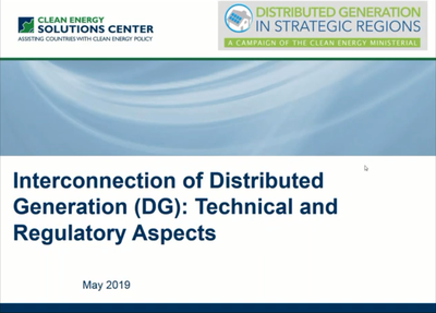 Interconnection of Distributed Generation (DG): Technical and Regulatory Aspects