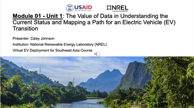Module 1, Unit 1 — The Value of Data in Understanding the Status & Mapping a Path for EV Transition