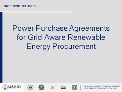 Power Purchase Agreements For Grid Aware Renewable Energy